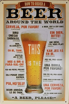 Beer around the world this is the metlen wandbord  30 x 20 cm