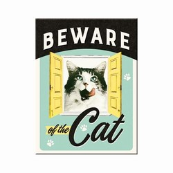 Beware of the cat magneet 8 x 6 cm