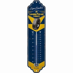 Goodyear tires metalen thermometer 30 x 6,5 cm