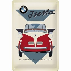 BMW Isetta economical car reliëf reclamebord 30 x 20 cm