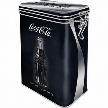 Coca cola sign good taste voorraadblik clip box<br />18 x 11 x 7cm