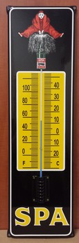 Spa emaille thermometer oor model<br />76x23cm