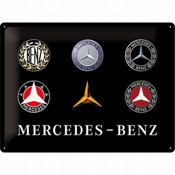 Mercedes benz evolution logo's relief reclamebord me