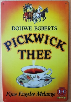 Pickwick thee fijne engelse melange metalen reclamebor<br />30 x 20 cm