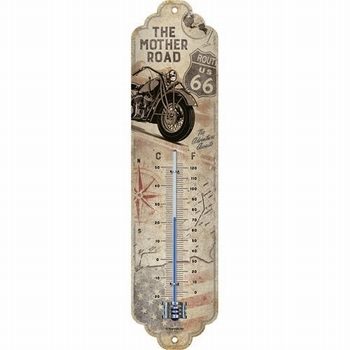 Rout 66 bik map metalen thermometer