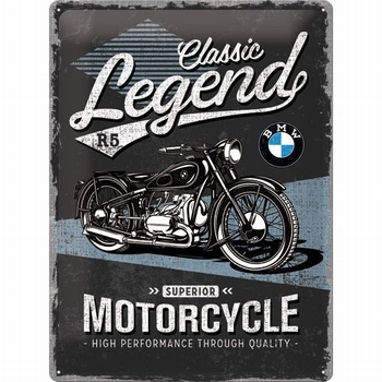 BMW Classic legends metalen relief reclamebord