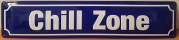 Chill zone metalen wandbord straatnaambord relief