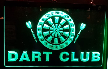 Darts club led lamp ledverlichting darten