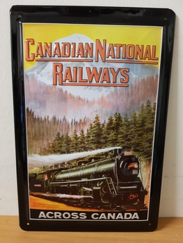Canadian National railways metalen reclamebord  RELIEF