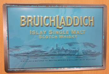 Bruichladdich scotch whisky  metalen reclamebord RELIEF