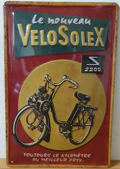 Velosolex 2200 metalen reclamebord 30x20 relief