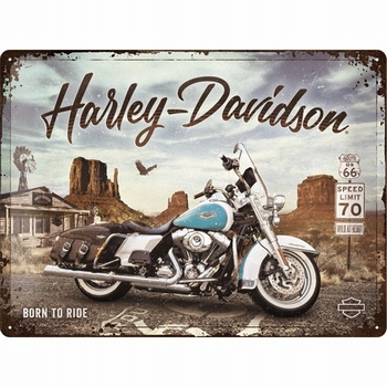 Harley Davidson route 66 road king classic metalen relief