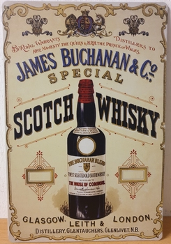 James Buchanan Whisky Reclamebord metaal