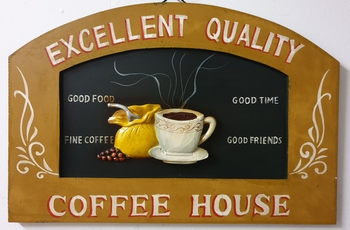 Quality coffee house pubbord wandbord hout
