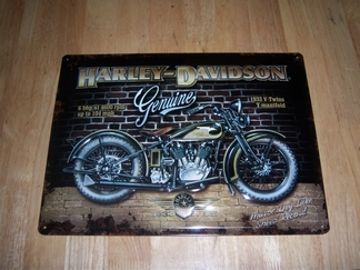 Harley Davidson v Twin relief metaal