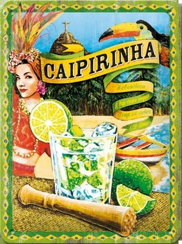 Caipirinha cocktail relief wandbord