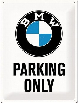 BMW Parking only relief wandbord<br />40 x 30 cm