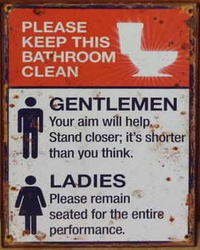 Please keep bathroom cleen wc toilet metalen wandbord