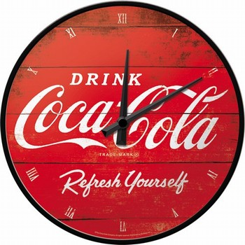 Coca cola rode logo refresh your self wandklok<br />31 cm