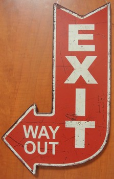 Exit way out pijl rood40x25cm