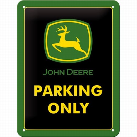 John Deere parking only klein metalen wandbord