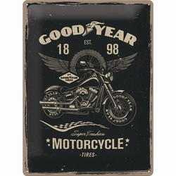 Goodyear motorcycle tires auto banden metalen relief bord