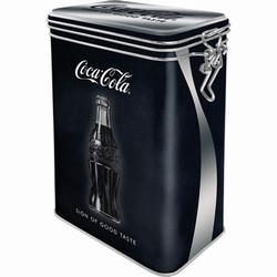 Coca cola sign good taste voorraadblik clip box
