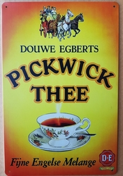 Pickwick thee fijne engelse melange metalen reclamebor