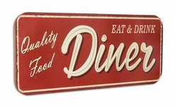 Diner quality food XXXL metalen wandbord