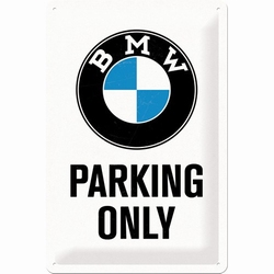 BMW parking only metalen relief reclamebord