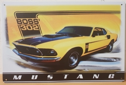 Ford mustang boss 302 metalen reclamebord
