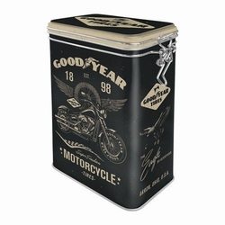 Goodyear motorcycle tires metalen voorraadblik clipbox