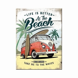 life is better at the beach vw bulli magneet