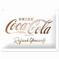 Coca cola refresh yourself wit metalen relief bord