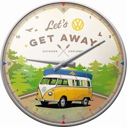 Lets Get away Volkswagen vw bullie wandklok