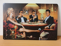 Beroemdheden Poker tafel marilyn monroe elvis james de