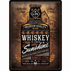 Whiskey sunshine rekst fles metalen reclamebord reli