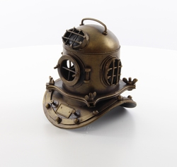 Duikers helm metalen model