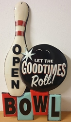 Let the goodtimes roll bowl open metalen uitgesneden