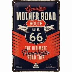 Route 66 the ultimate road trip metalen relief recla