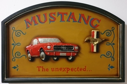 Ford mustang houten pubbord wandbord