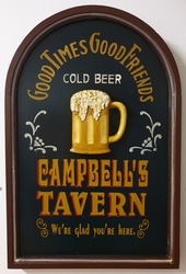 Cambell's tavern good times friends pubbord houten w