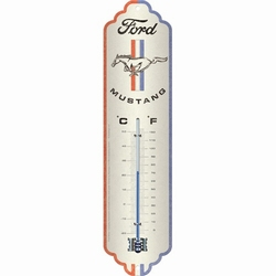 Ford mustang stripes logo metalen thermometer
