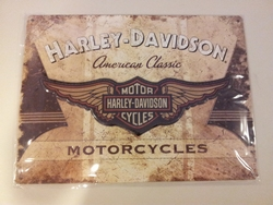 Harley Davidson American classic logo relief