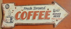 Fresh brewed coffee pijl50x18cm