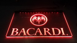Bacardi tekst led lamp rode led